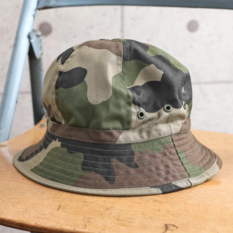 実物 新品 デッドストック フランス軍 HBT ブッシュハット CCEカモ