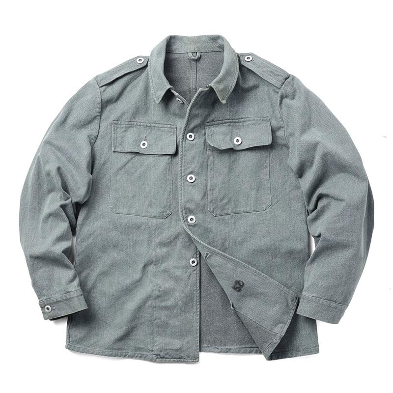 実物 スイス軍 前期型 デニムワークジャケット USED