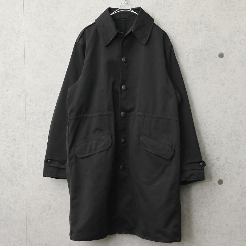 実物 USED デンマーク軍 1970年代 ヴィンテージ フィールドコート BLACK染め