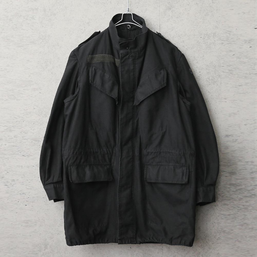 実物 USED ベルギー軍 M-64 フィールドジャケット スタンドカラー SEYNTEX社製 BLACK染め