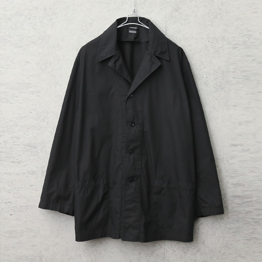 実物 新品 デッドストック イタリア軍 ホスピタルジャケット BLACK染め
