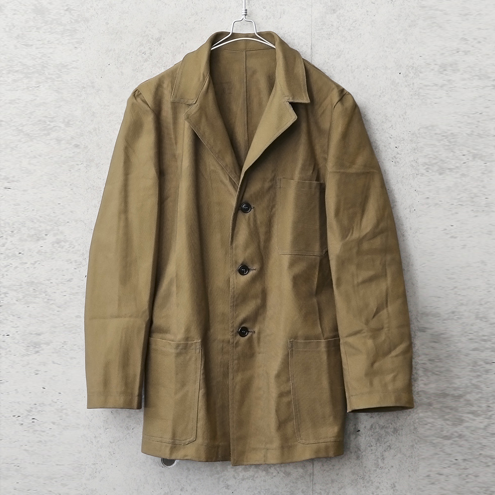 実物 新品 デッドストック イタリア軍 プリズナー ワークジャケット 3ポケット