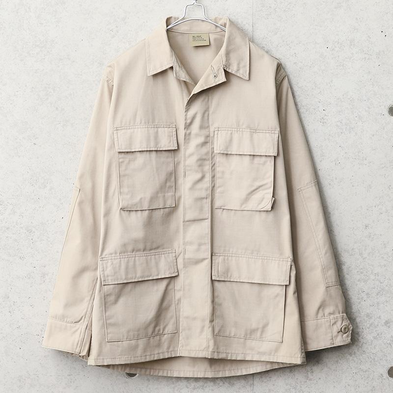 実物 新品 デッドストック 米軍 カーキ リップストップ BDU ジャケット