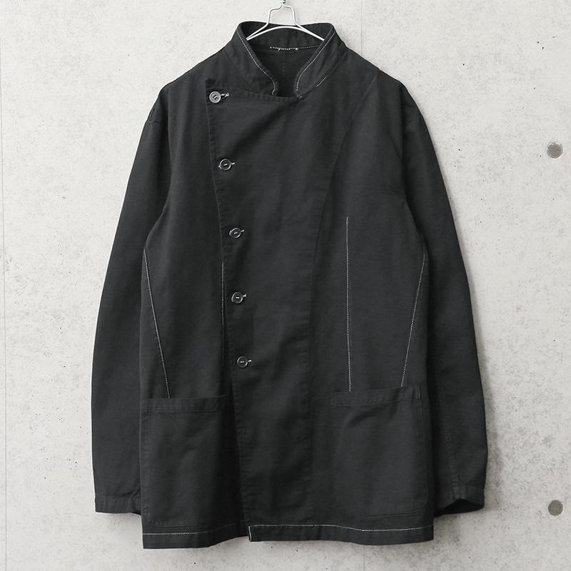 実物 新品 デッドストック イタリア軍 コックジャケット BLACK染め