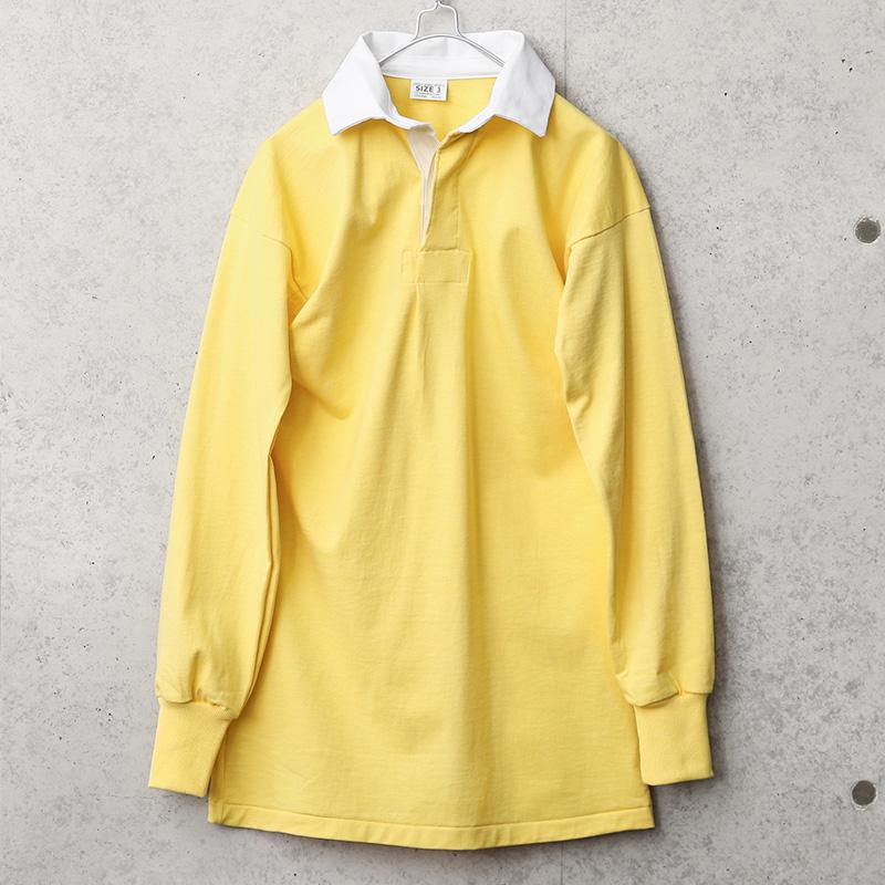 実物 新品 デッドストック イギリス軍 ラガーシャツ イエロー