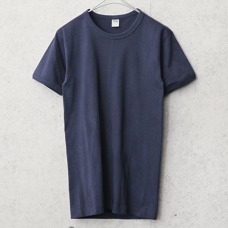 実物 新品 デッドストック イタリア海軍 バインダーネック S/S Tシャツ