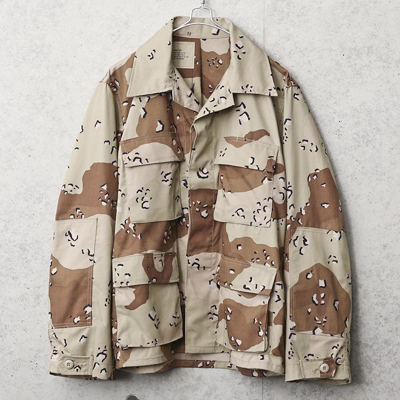 実物 USED 米軍 6Cデザート(チョコチップ)カモ BDUジャケット
