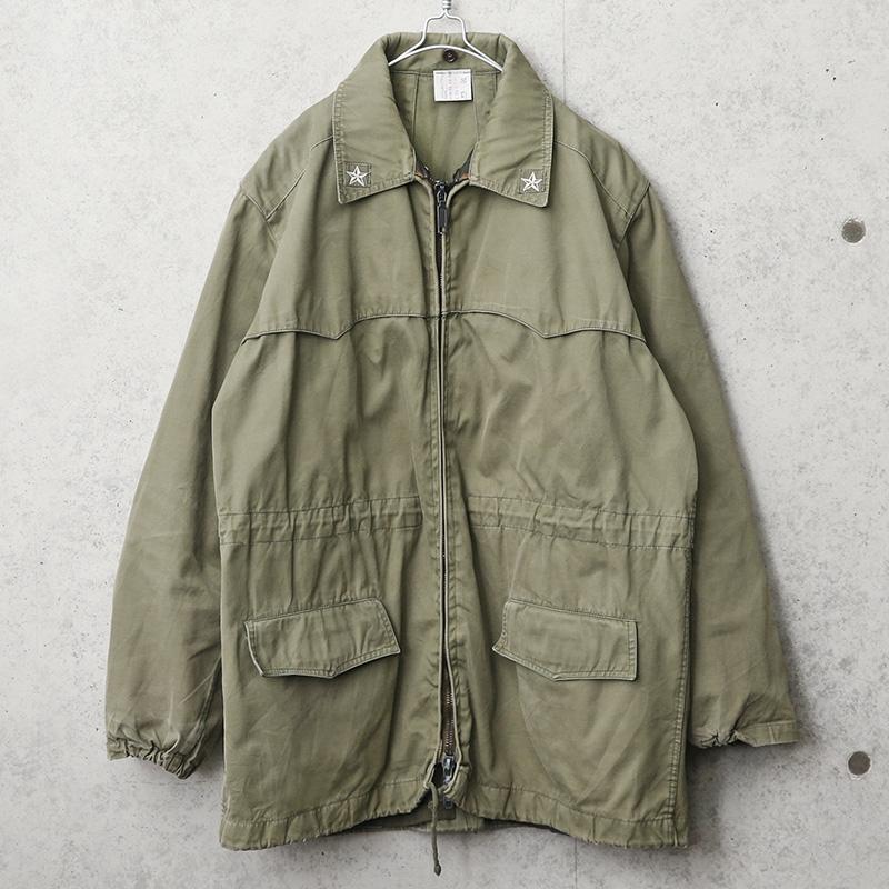 実物 USED イタリア軍 フロントジップ フィールドジャケット