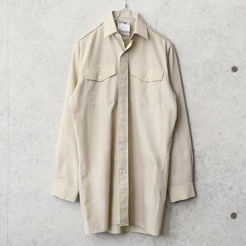 実物 新品 デッドストック イギリス軍 FAWN ARMY ALL RANKS ロングスリーブシャツ