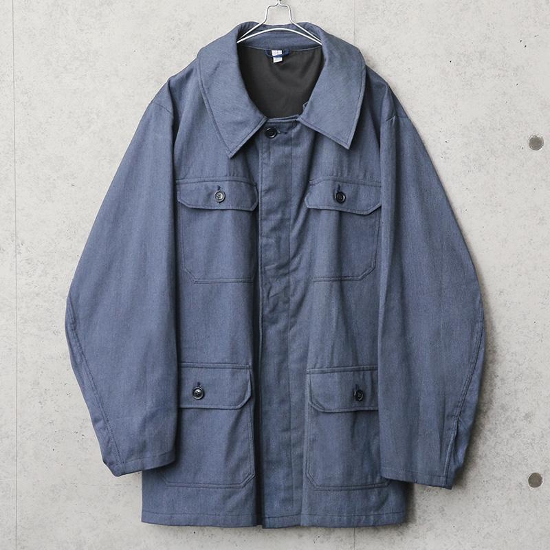 実物 新品 デッドストック ポーランド軍 ブルー ワークジャケット
