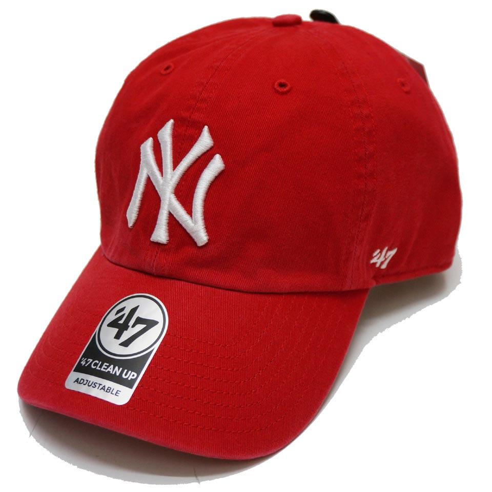 '47 フォーティーセブン ローキャップ 帽子 CLEAN UP CAP NEW YORK YANKEES ヤンキース NY レッド