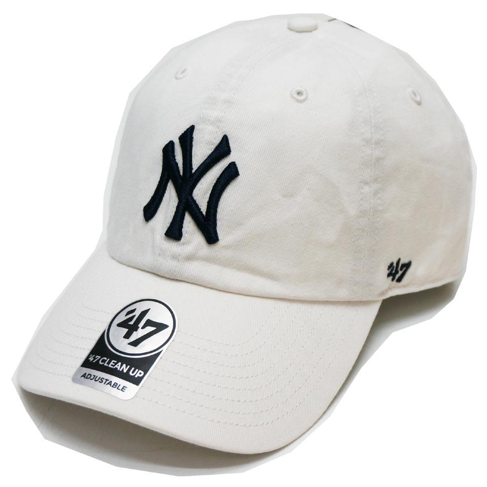 '47 フォーティーセブン ローキャップ 帽子 CLEAN UP CAP NEW YORK YANKEES ヤンキース NY ホワイト