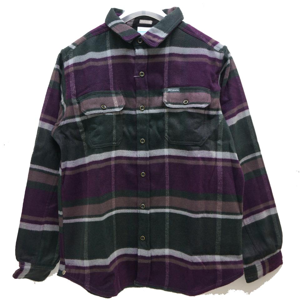 COLUMBIA コロンビア フランネルシャツ DESCHUTES RIVER HEAVYWEIGHT FLANNEL SHIRT AE0036 - PURPLE