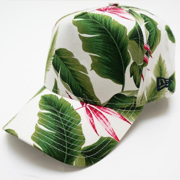 NEW ERA ニューエラ キャップ 9FORTY A-FRAME BOTANICAL CAP - WHITE