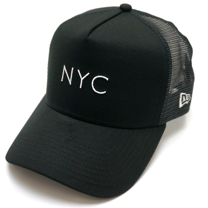 NEW ERA ニューエラ メッシュキャップ 9FORTY A-FRAME MESH CAP NYC - BLACK