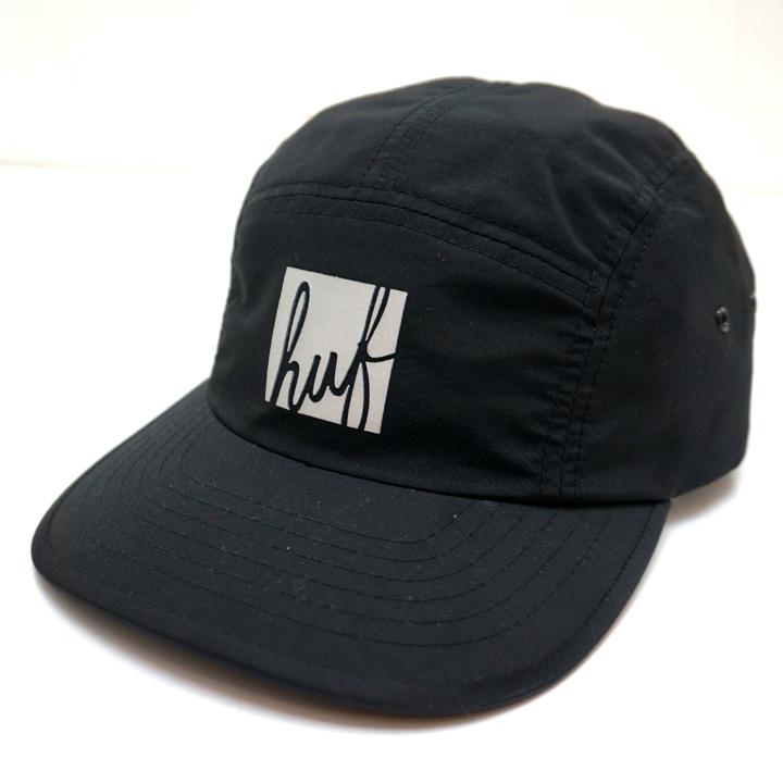 HUF ハフ REFLECT SCRIPT VOLLEY CAP - BLACK