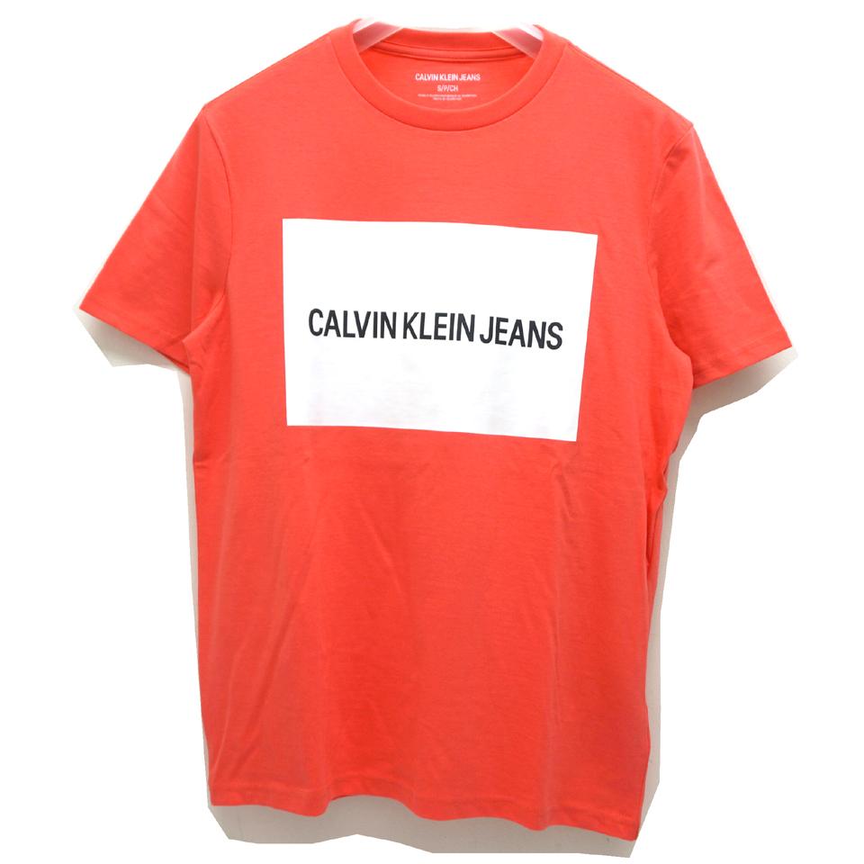 CALVIN KLEIN カルバンクライン Tシャツ BOX LOGO S/S Tee