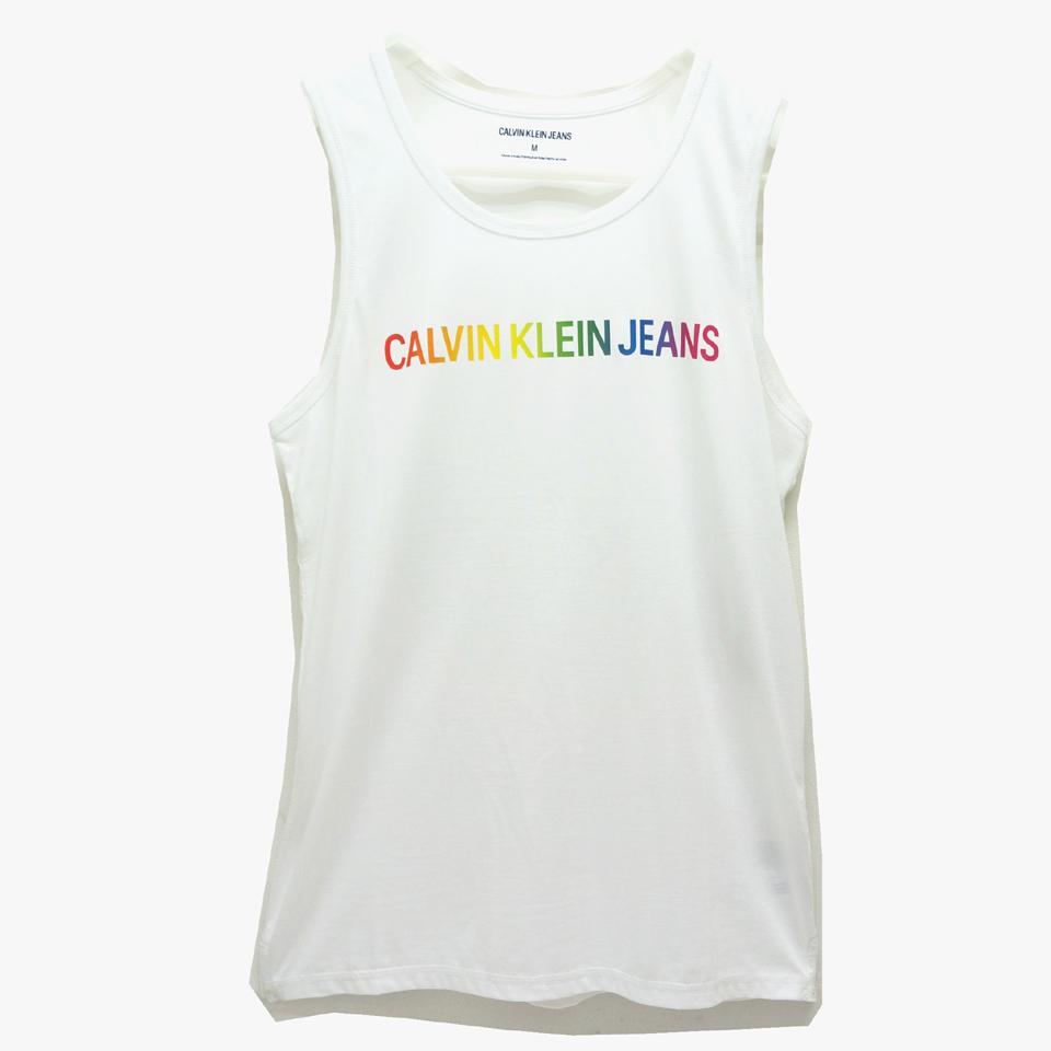 CALVIN KLEIN カルバンクライン タンクトップ RAINBOW LOGO TANK TOP