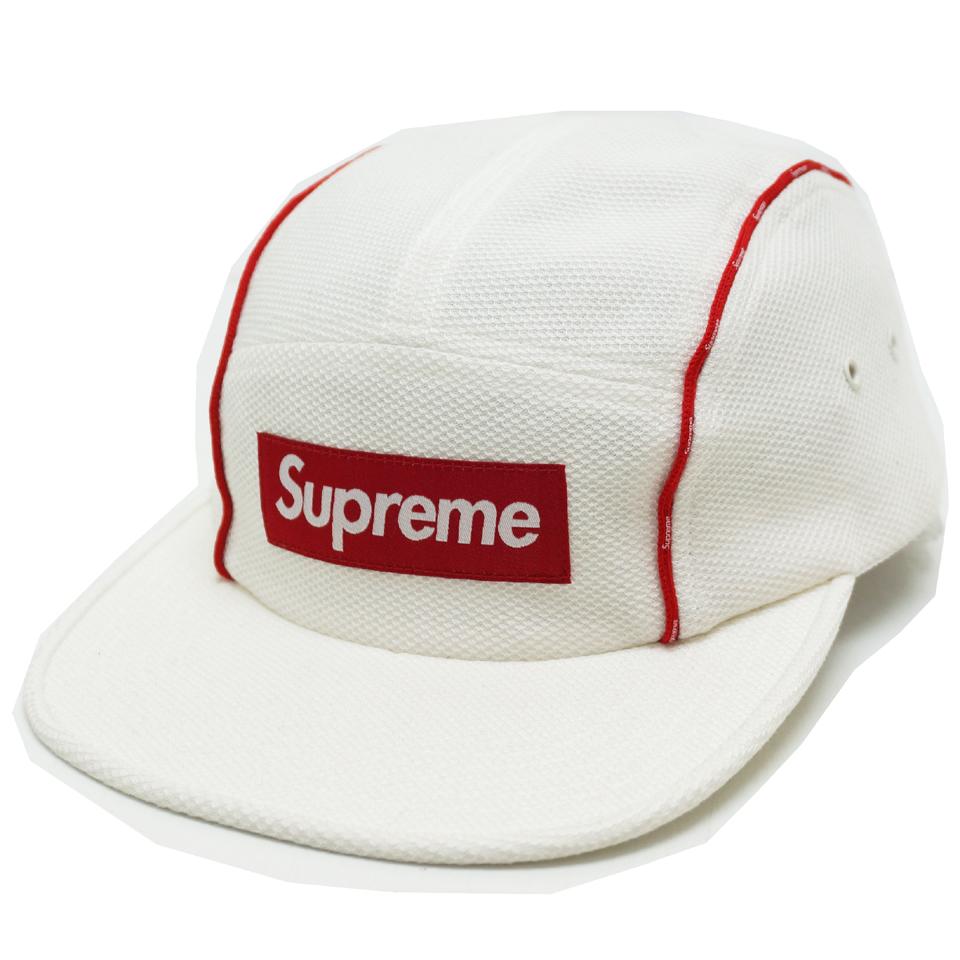 SUPREME シュプリーム PIQUE PIPING CAMP CAP ホワイト 白 WHITE
