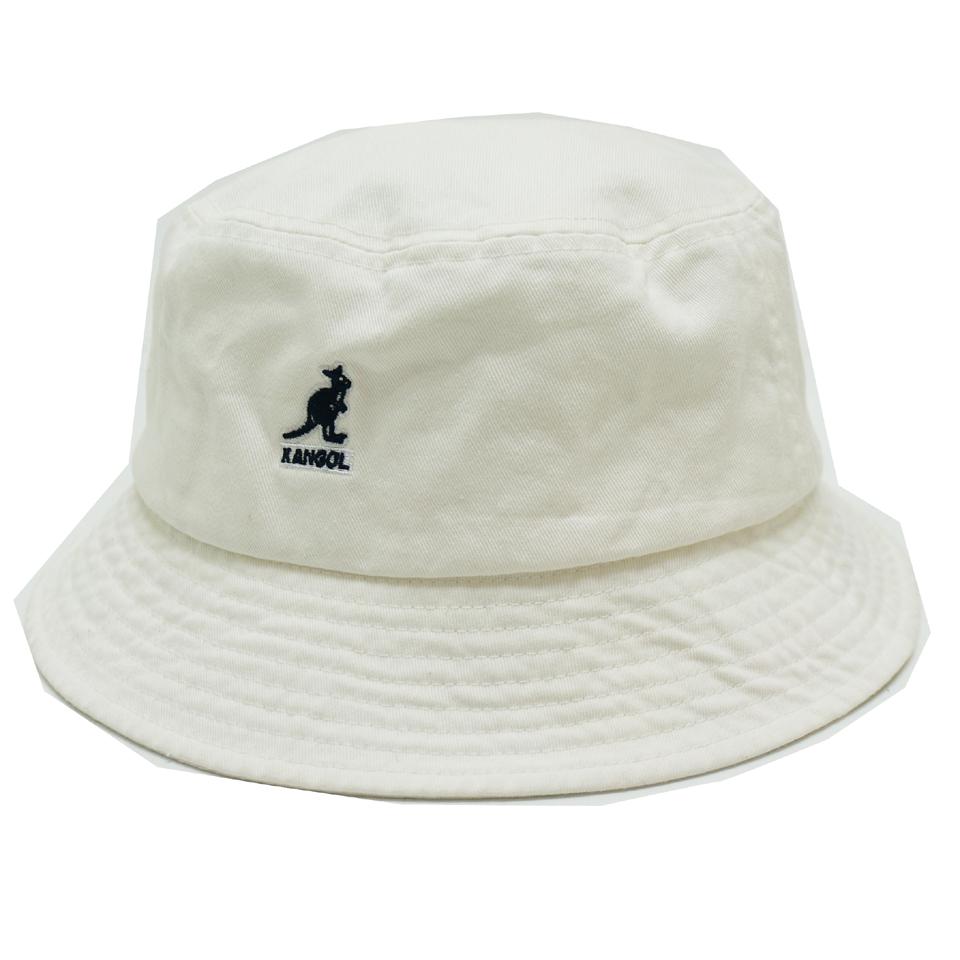 KANGOL カンゴール バケットハット WASHED BUCKET HAT 100-169221 WHITE