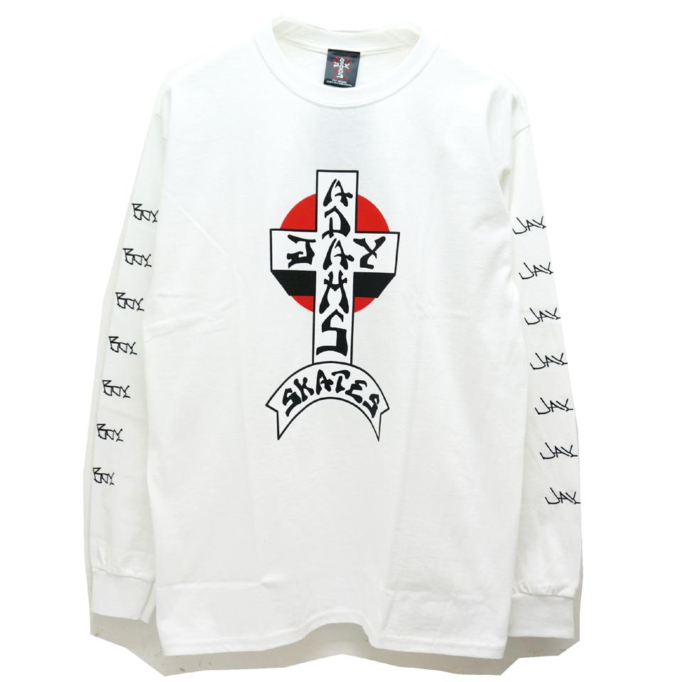 SALE セール JAY ADAMS ジェイアダムス ロンT Tシャツ CROSS LOGO L/S Tee