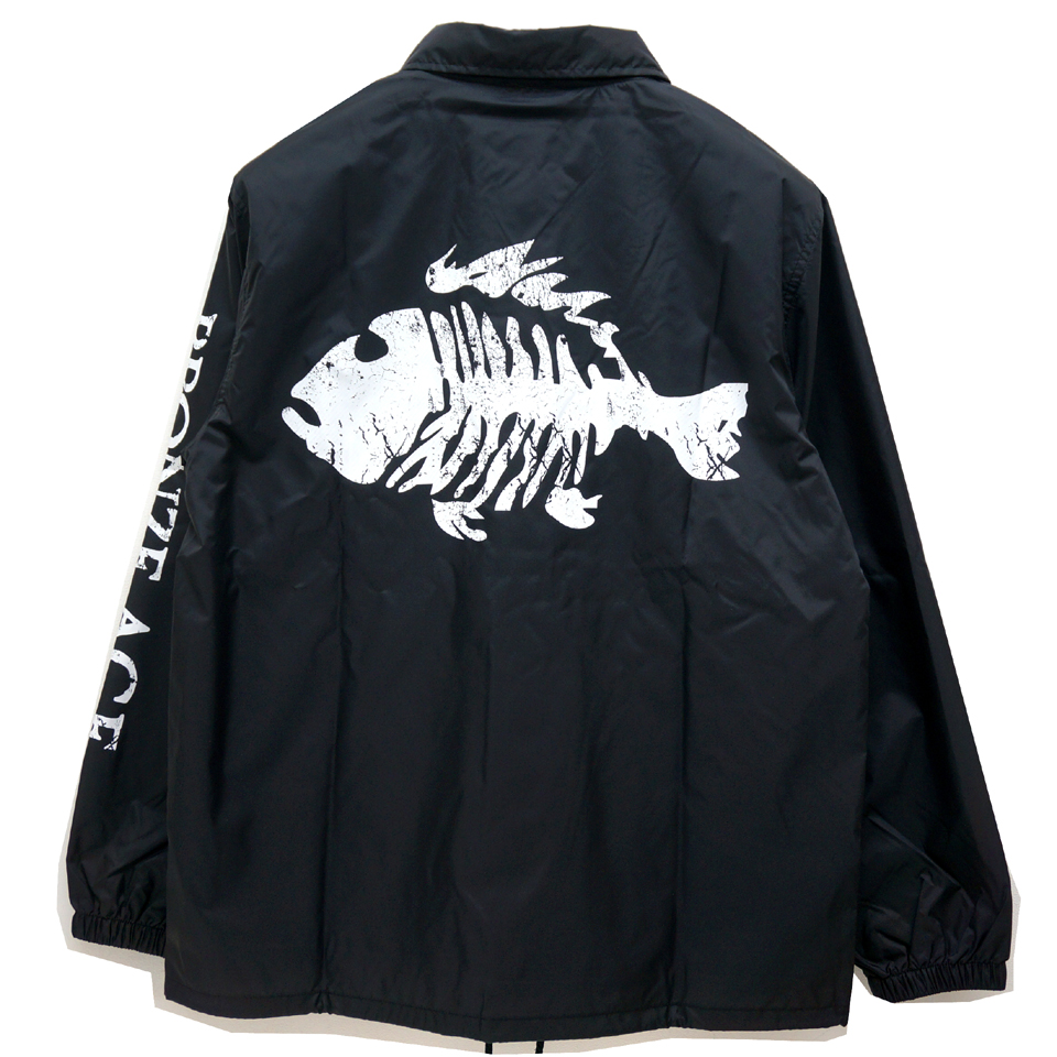 BRONZE AGE ブロンズエイジ コーチジャケット FISH LOGO COACH JACKET BLACK