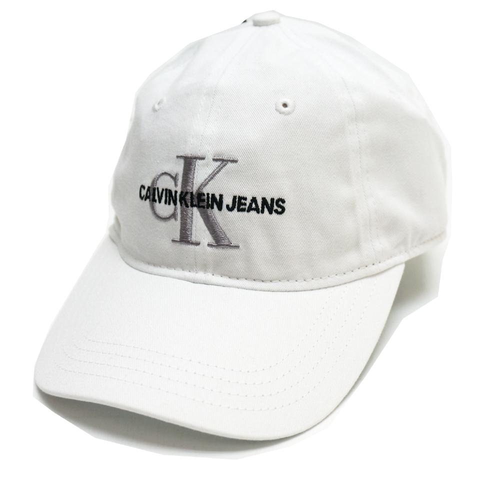 CALVIN KLEIN カルバンクライン キャップ CK LOGO 6PANEL CAP - WHITE
