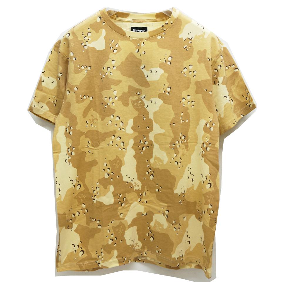 RIPNDIP リップンディップ Tシャツ NERM CAMO S/S Tee - CHOCO CHIP CAMO