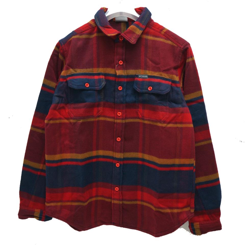 COLUMBIA コロンビア フランネルシャツ DESCHUTES RIVER HEAVYWEIGHT FLANNEL SHIRT AE0036 - RED