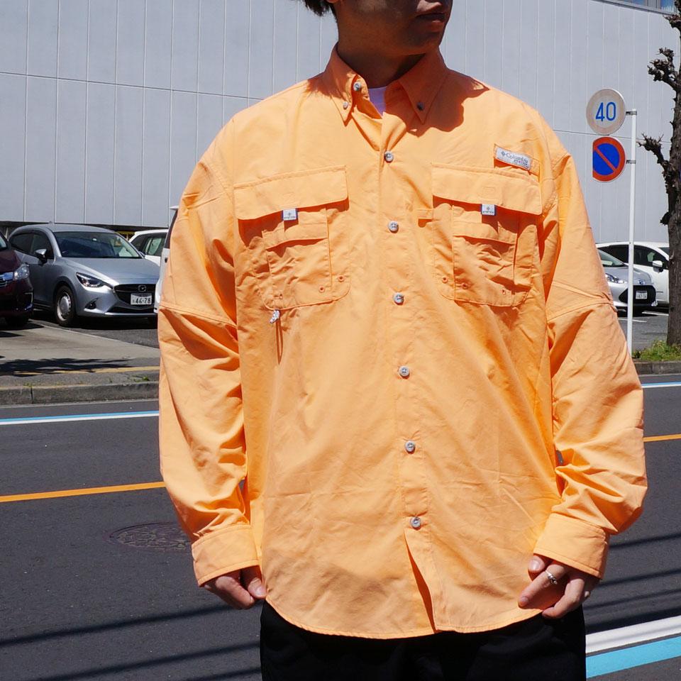 COLUMBIA コロンビア フィッシングシャツ BAHAMA 2 L/S SHIRT 長袖 ブラック ピンク