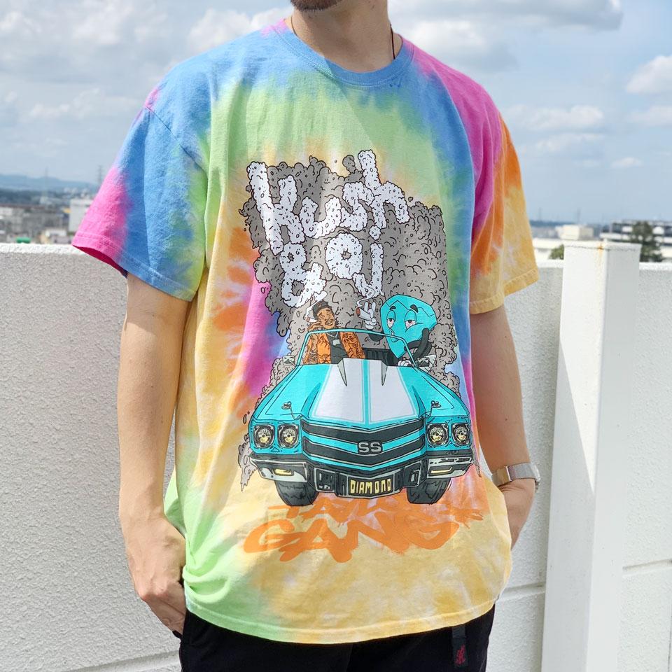 ダイアモンドサプライ DIAMOND SUPPLY Co. Tシャツ TAYLOR GANG WHILE DRIVING TIE DYE S/S Tee 半袖 ウィズカリファ WIZ KHALIFA コラボ タイダイ