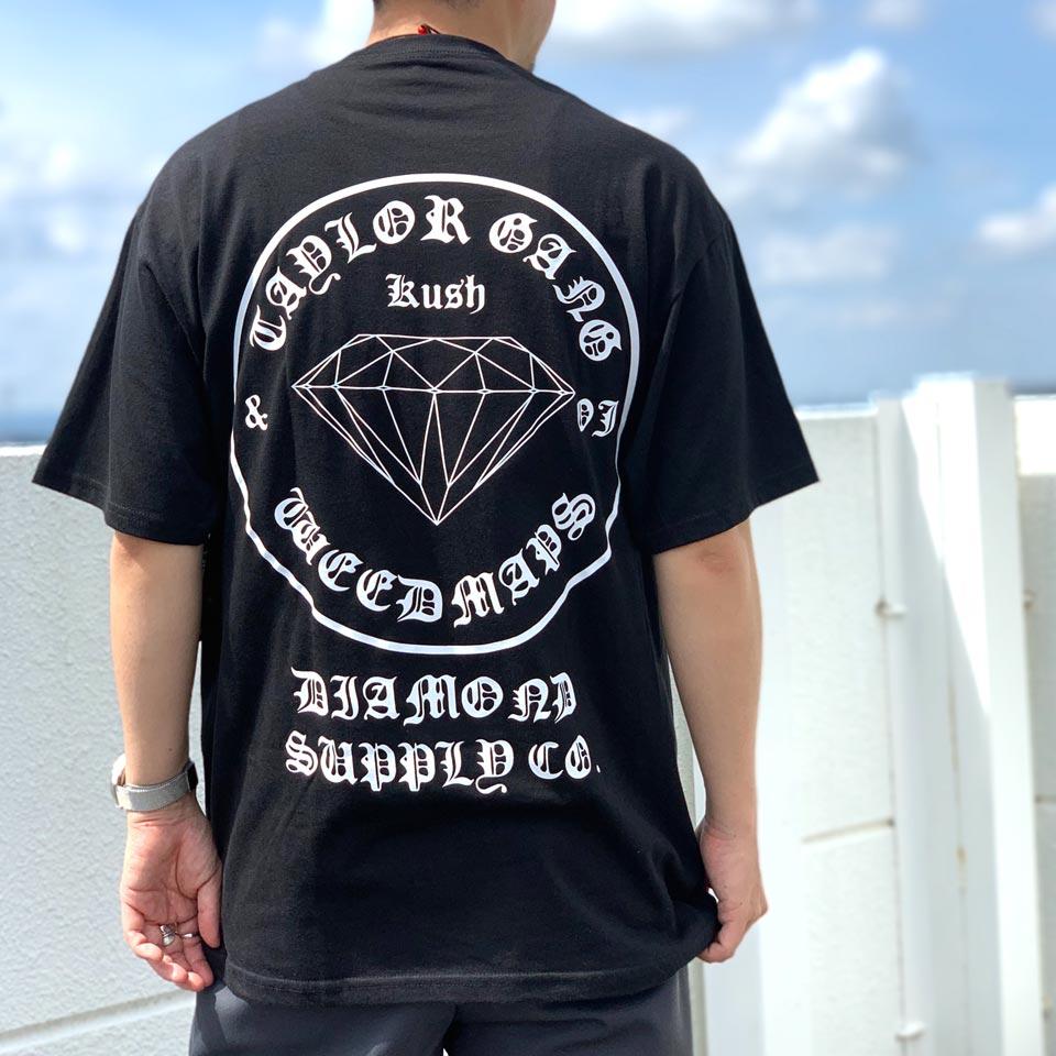 全2色 ダイアモンドサプライ DIAMOND SUPPLY Co. Tシャツ TAYLOR GANG OG SEAL S/S Tee 半袖 ウィズカリファ WIZ KHALIFA コラボ ブラック ロイヤルブルー