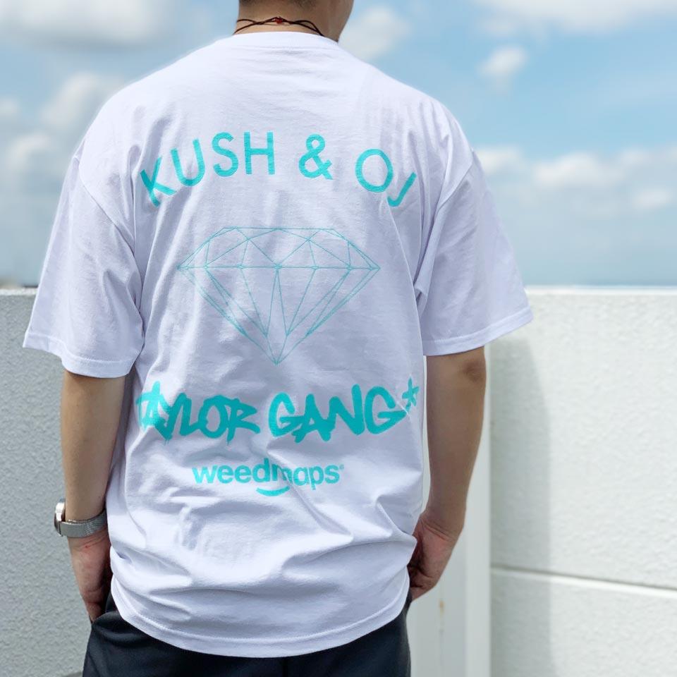 全2色 ダイアモンドサプライ DIAMOND SUPPLY Co. Tシャツ TAYLOR GANG KUSH & OG S/S Tee 半袖 ウィズカリファ WIZ KHALIFA コラボ ホワイト ブラック