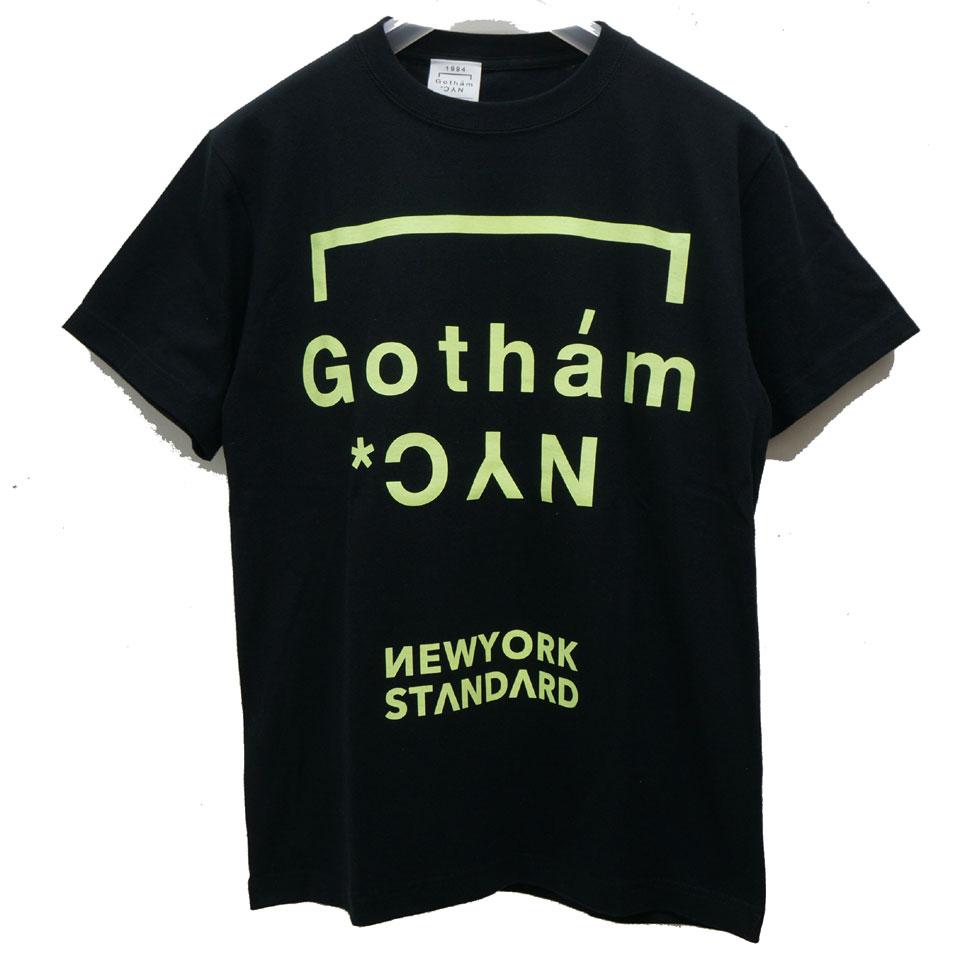 ゴッサム GOTHAM NYC Tシャツ GOTHAM NYC NEON S/S Tee ブラック/ネオンイエロー