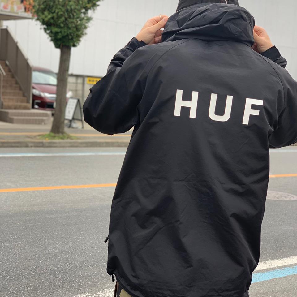 HUF ハフ ナイロンジャケット STANDARD SHELL 2 JACKET ブラック 黒 BLACK  定番 送料無料