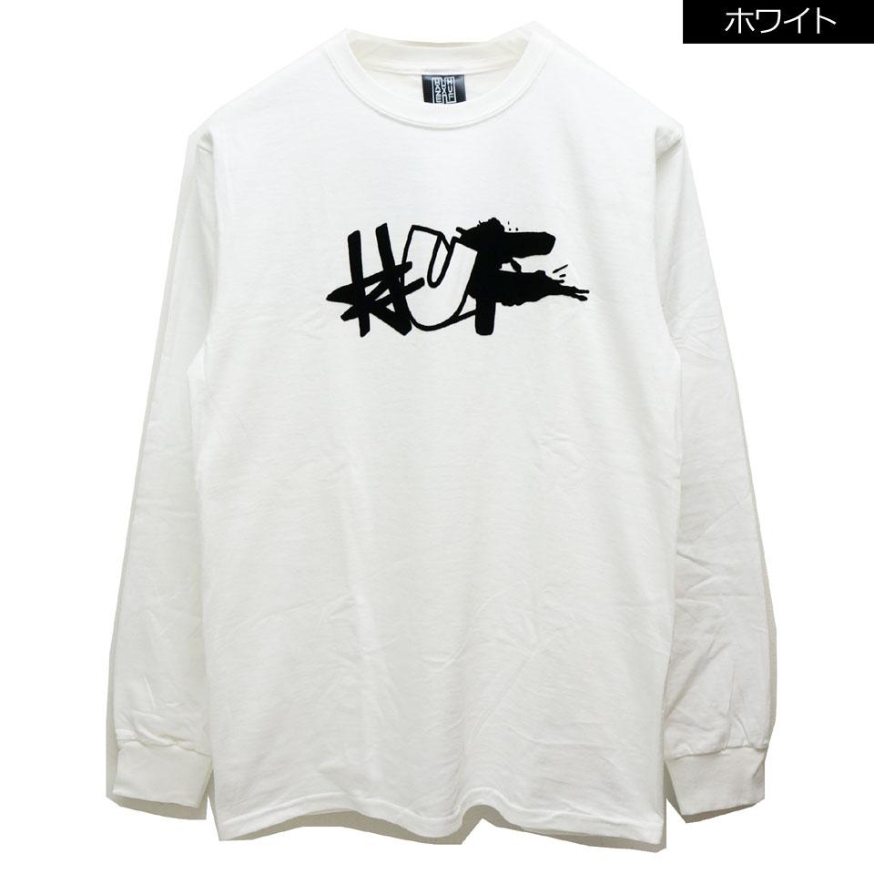 SALE セール HUF ハフ ロンT Tシャツ HUF × HAZE REMIX L/S Tee ホワイト ブラック