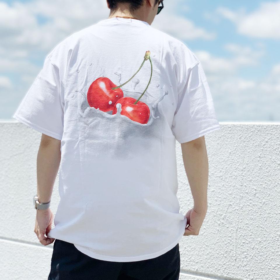 SALE セール 全2色 ハフ HUF Tシャツ WET CHERRY S/S Tee 半袖 ホワイト ブラック 白 黒 バックプリント
