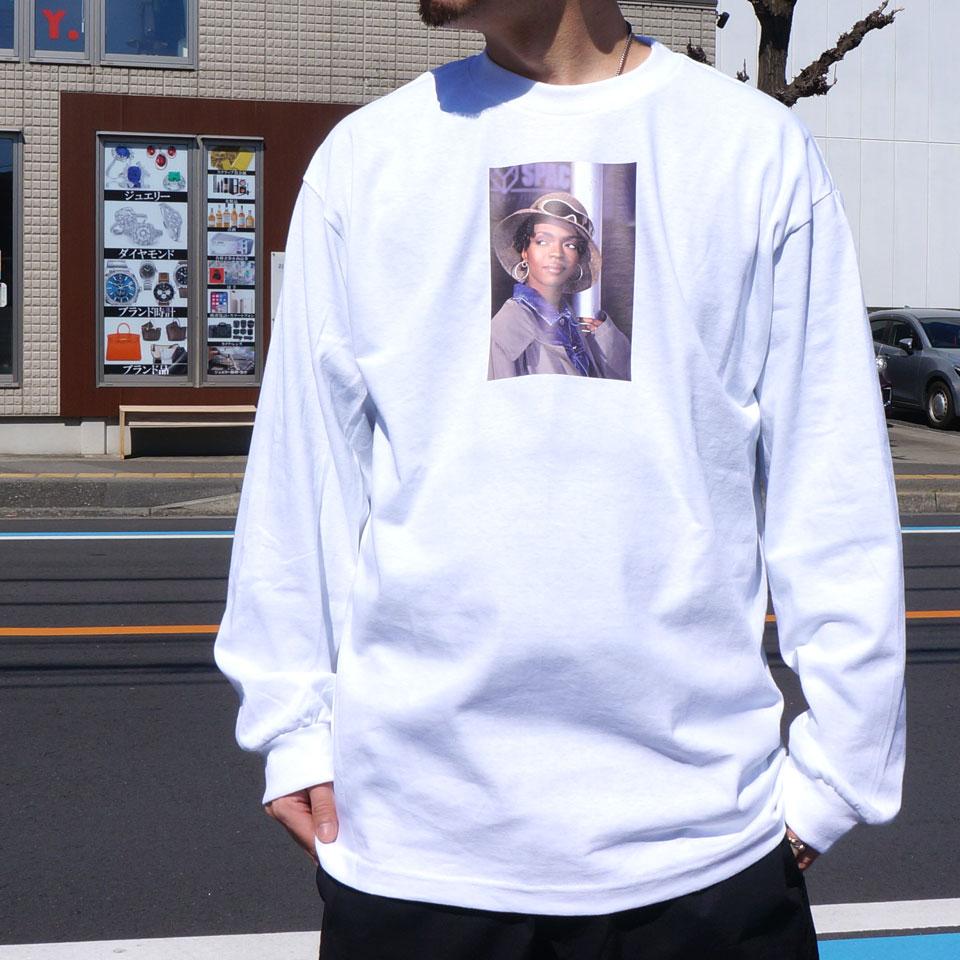 INTERBREED インターブリード ロンT Tシャツ LAURYN HILL PRINCESS L.BOOGIE L/S Tee  ブラック ホワイト