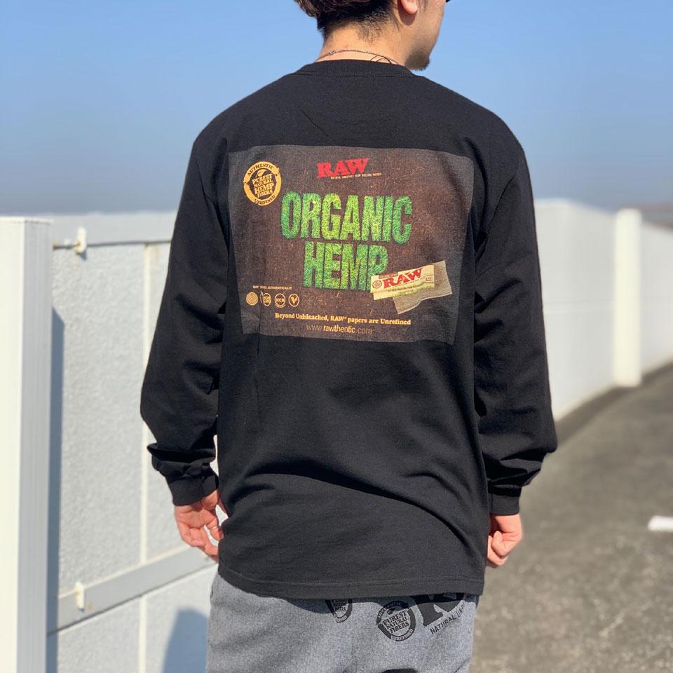 全2色 INTERBREED インターブリード ロンT Tシャツ RAW ORGANIC L/S Tee ブラック グリーン