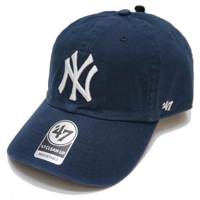 '47 フォーティーセブン ローキャップ 帽子 CLEAN UP CAP NEW YORK YANKEES ヤンキース NY ネイビー