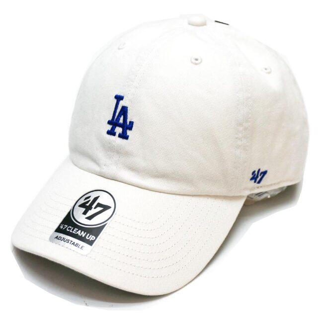 '47 フォーティーセブン ローキャップ 帽子 BASE RUNNER CAP LOS ANGELES DODGERS ロサンゼルスドジャース LA ホワイト