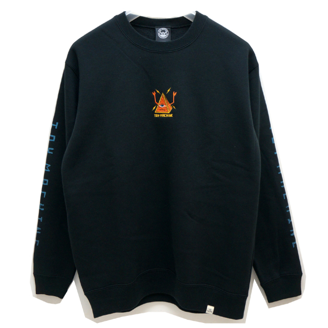 TOY MACHINE トイマシーン クルースウェット PYRAMID EMB CREW SWEAT (TMF19SW12) - BLACK