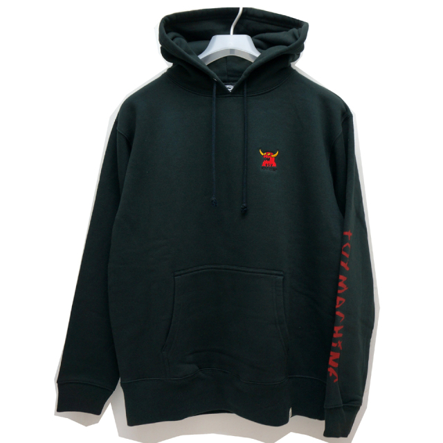 TOY MACHINE トイマシーン パーカー MONSTER EMB SWEAT HOODIE (TMF19SW15) - BLACK