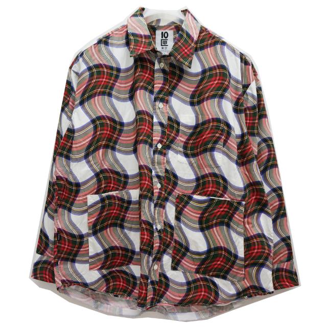 TENBOX 10匣 テンボックス チェックシャツ MUSHROOM NIGHT SHIRT - PLAID