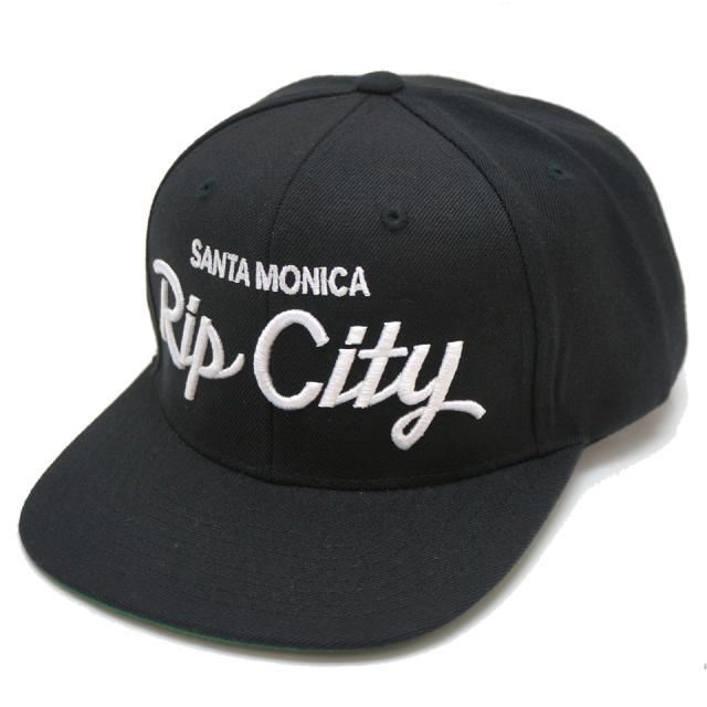 RIP CITY SKATES リップシティスケート スナップバック SCRIPT LOGO SNAPBACK - BLACK