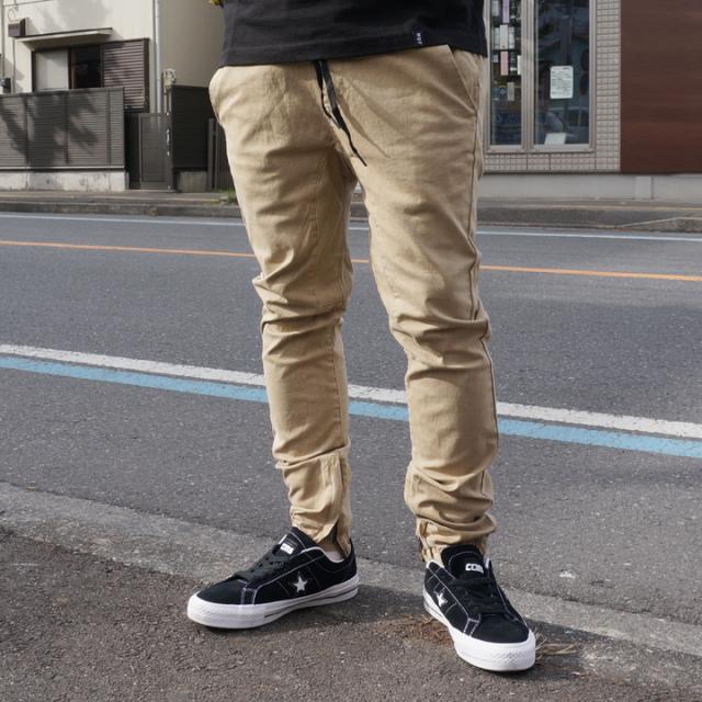 PACSUN パックサン ジップジョガーパンツ SIDE ZIP JOGGER PANTS