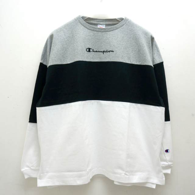 CHAMPION チャンピオン COLOR BLOCK WIDE L/S Tee C3-P415