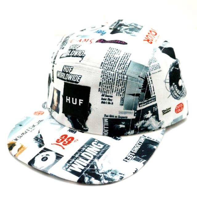 HUF ハフ HEADLINES VOLLEY CAP - WHITE