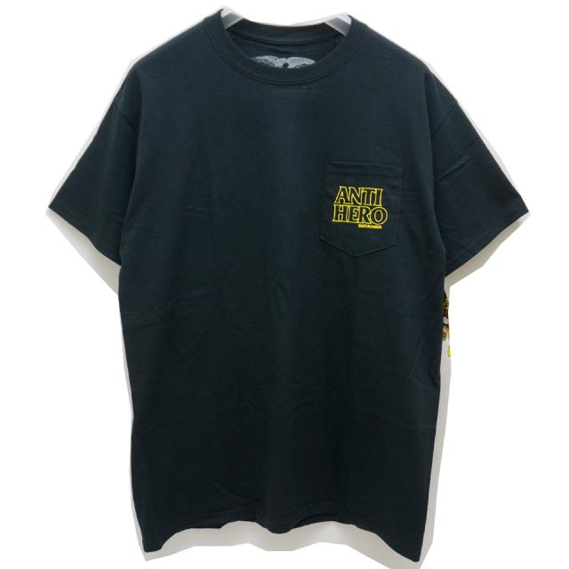 ANTI HERO アンタイヒーロー Tシャツ OUT LINE ANTI HERO LOGO S/S Tee