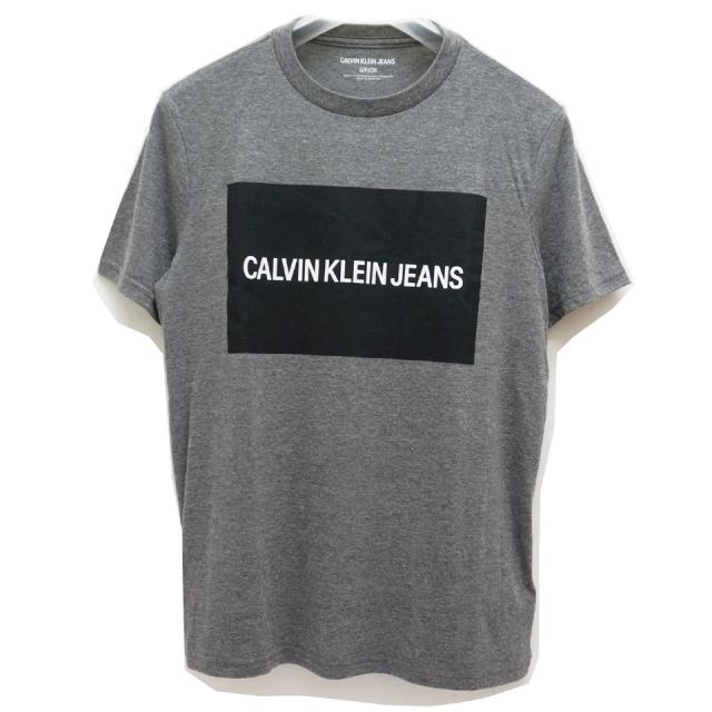 SUPER SALE CALVIN KLEIN カルバンクライン Tシャツ BOX LOGO S/S Tee 返品交換不可